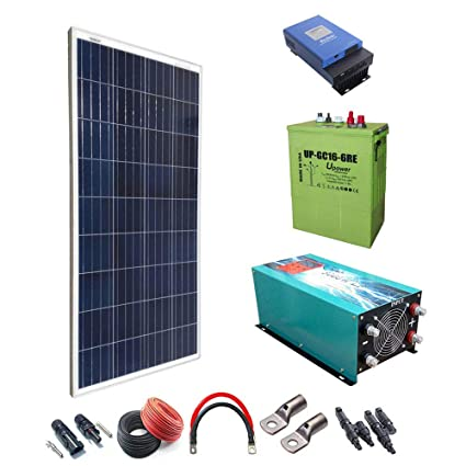Kit Solar 1500w Hora Regulador de carga MPPT 60A Inversor ...