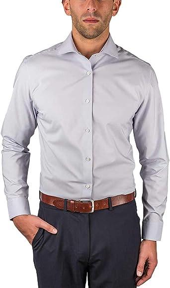 Perry Ellis Mens Travel Luxe Non Iron Tech Shirt (16.5-34/35, Gray): Amazon.es: Ropa y accesorios