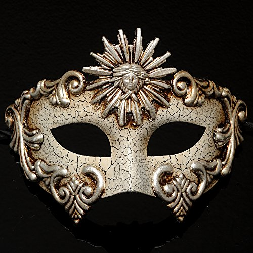 4everStore Roman Masquerade Mask w/ Crackle Acrylic Paint ()