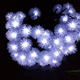 Solar String Lights for Garden,30 LED Snowball Waterproof Fairy Lights Decorative Solar String Lights for Home, Lawn, Wedding, Patio, Party and Holiday Decorations,White