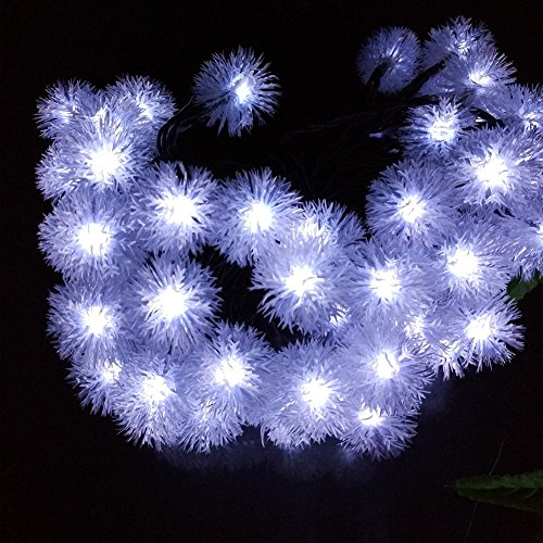 Solar String Lights for Garden,30 LED Snowball Waterproof Fairy Lights Decorative Solar String Lights for Home, Lawn, Wedding, Patio, Party and Holiday Decorations,White by Hulorry