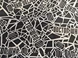 Black Dr. Who/ Doctor Who/ Shopping Tote/ Market Bag 14x18 inches