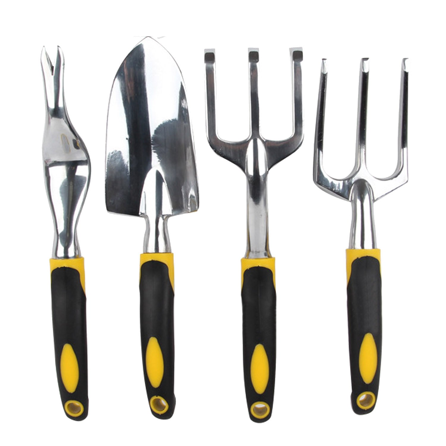 Set 3 PCS Garden Hand Tools Shovels Forks Harrow for Cultivating Digging Weeding Soil Loosening Aerating Transplanting Gosear
