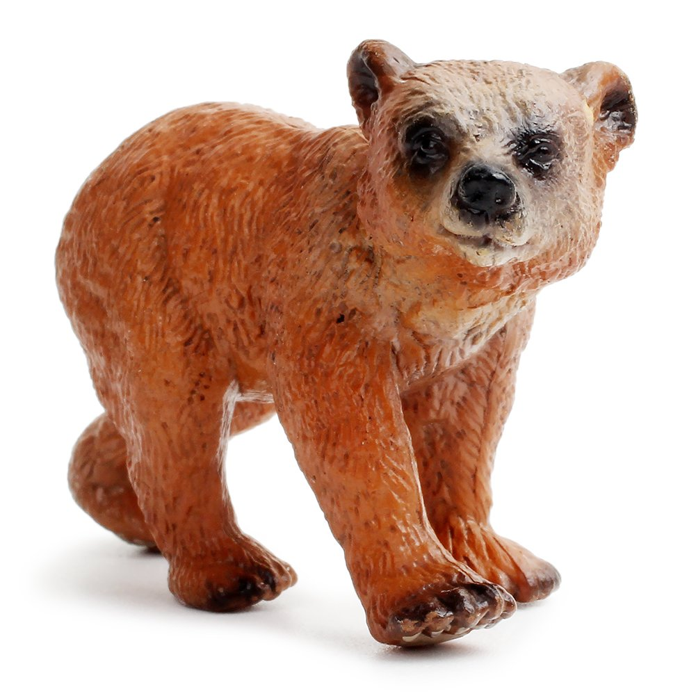 UANDME Miniature Grizzly Bear Toy Figurines, Set of 3 Bear Figures, North American Wildlife Grizzlies Male, Female and Cub (Set) by UANDME (Image #5)