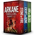 Arkane Thrillers, Books 1 - 3: Stone of Fire, Crypt of Bone, Ark of Blood Audiobook by J F Penn Narrated by Veronica Giguere
