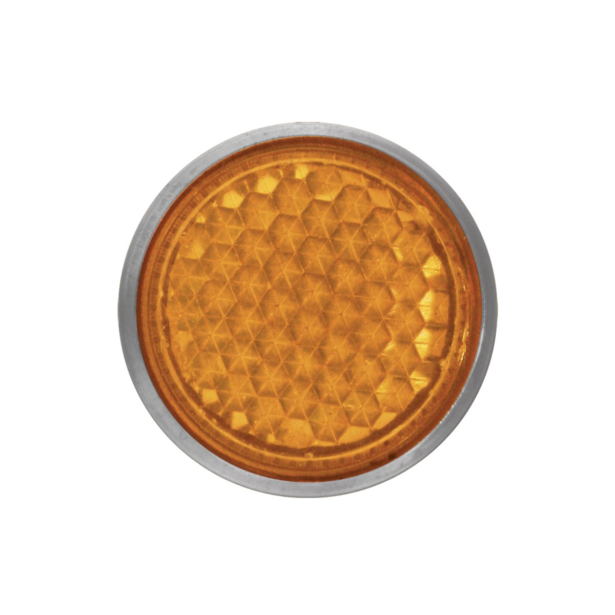 "1 Pack RVs and Buses Towing Grand General 80831 Round Amber 2-1//8/"" Stick-On Reflector with Chrome Bezel for Trucks Trailers"