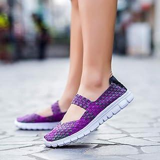 YOPAIYA [复制]-Transpirable Zapatos artesanales Tejidas Moda Mujer Zapatos cómodos Wovening Wome Ligero