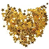 wotu Gold Star Confetti, 30 g / 1 Oz Metallic Foil Stars Sequin for Party Wedding Decorations and Nail Art