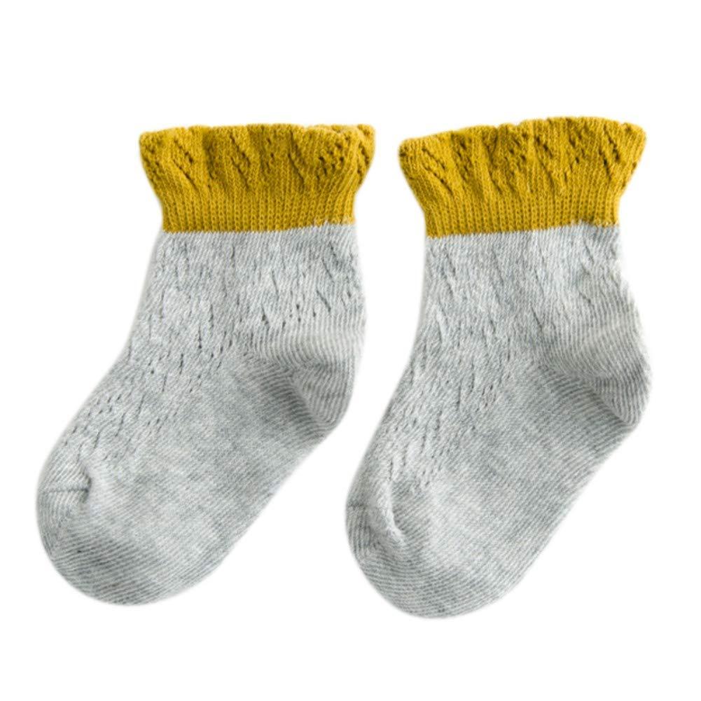 EFINNY Summer Toddler Mesh Socks Kids Baby Low Cut Thin Cotton Breathable Socks Anti Slip