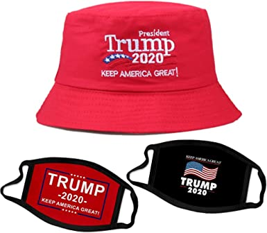 2020 President Donald Trump Cap Keep America Great Again Hat Bucket Hat Red