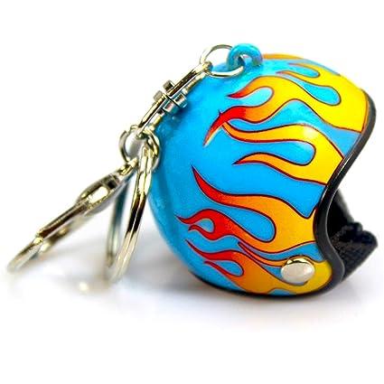 Llavero para Casco de Moto, Vintage, Color Azul: Amazon.es ...