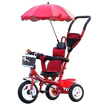 Triciclos- Trike para niños Carruaje para bebés niños Bicicleta 1-6 años Bebé Grande para niñas Coche 3 Ruedas (Color : Red1): Amazon.es: Hogar