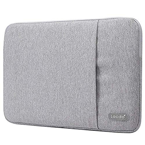 Lacdo 15.6 Inch Laptop Sleeve Bag Compatible Acer Aspire/Predator, Toshiba, Inspiron, ASUS P-Series, HP Pavilion, Lenovo, MSI GL62M, Chromebook Notebook Carrying Case, Water Resistant, Gray