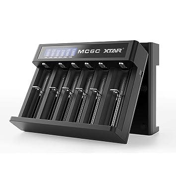 Xtar MC6C - Cargador de batería de Ion de Litio para 18650 ...