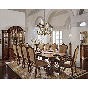 Awesome Villa Cortina 11 Piece Double Pedestal Dining Set With Upholstered Chairs