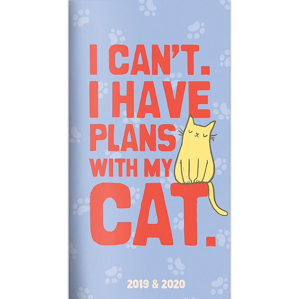 """Time Factory Cat Lady 3.5"""" x 6.5"""" January 2019-December 2020 2-Year Pocket Planner (19-7002) PDF"""
