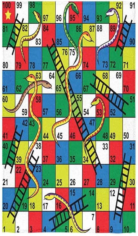 InterestPrint Toallas de Mano 16 x 28 Pulgadas Serpientes escaleras Juego Playa Toallas de baño hogar baño Viaje Uso: Amazon.es: Hogar