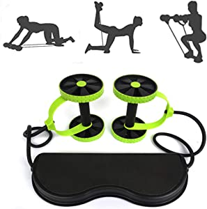 MWZ Ab Roller Wheel Core Abdominal Exercise Fitness Trainer Multi-Functional Home Gym Workout Equipment