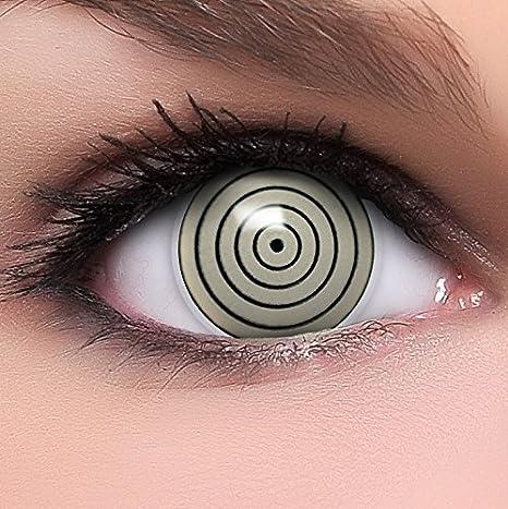 00ca76a522 FUNZERA®[Sharingan] Lentillas de Colores Rinnegan + recipiente para lentes  de contacto,