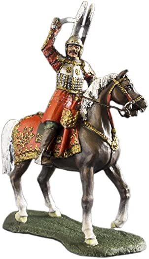 Ronin Miniatures Medieval Cavalry Polished Winged Hussar Rider Hand Painted Tin Metal 54mm Action Figures Toy Soldiers Size 1 32 Scale for Home D cor Accents Collectible Figurines Item 6001PL
