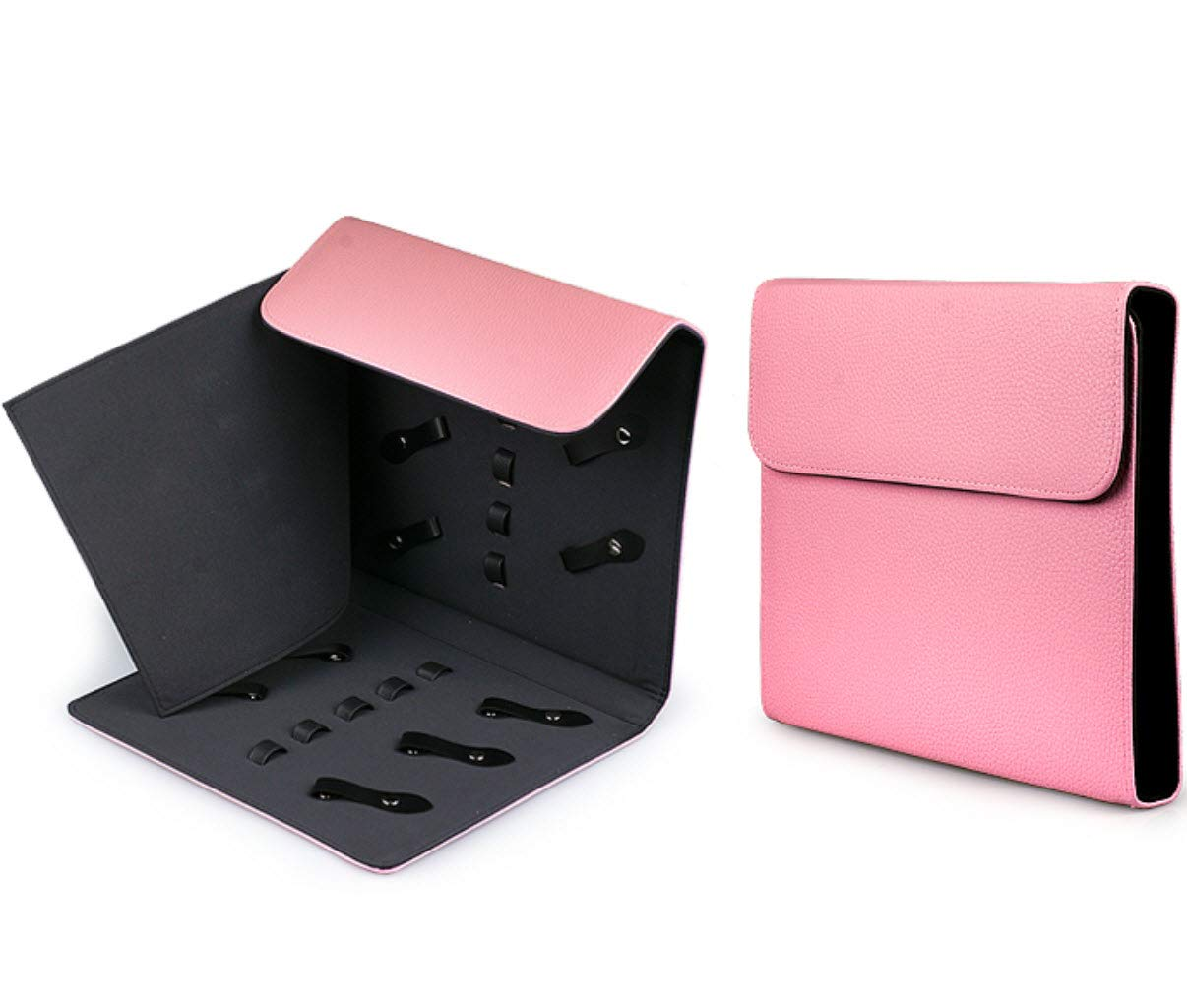 Truewin Hairdressing Scissors 10 Holders Display Case Bag Sample Board Shears (Pink)