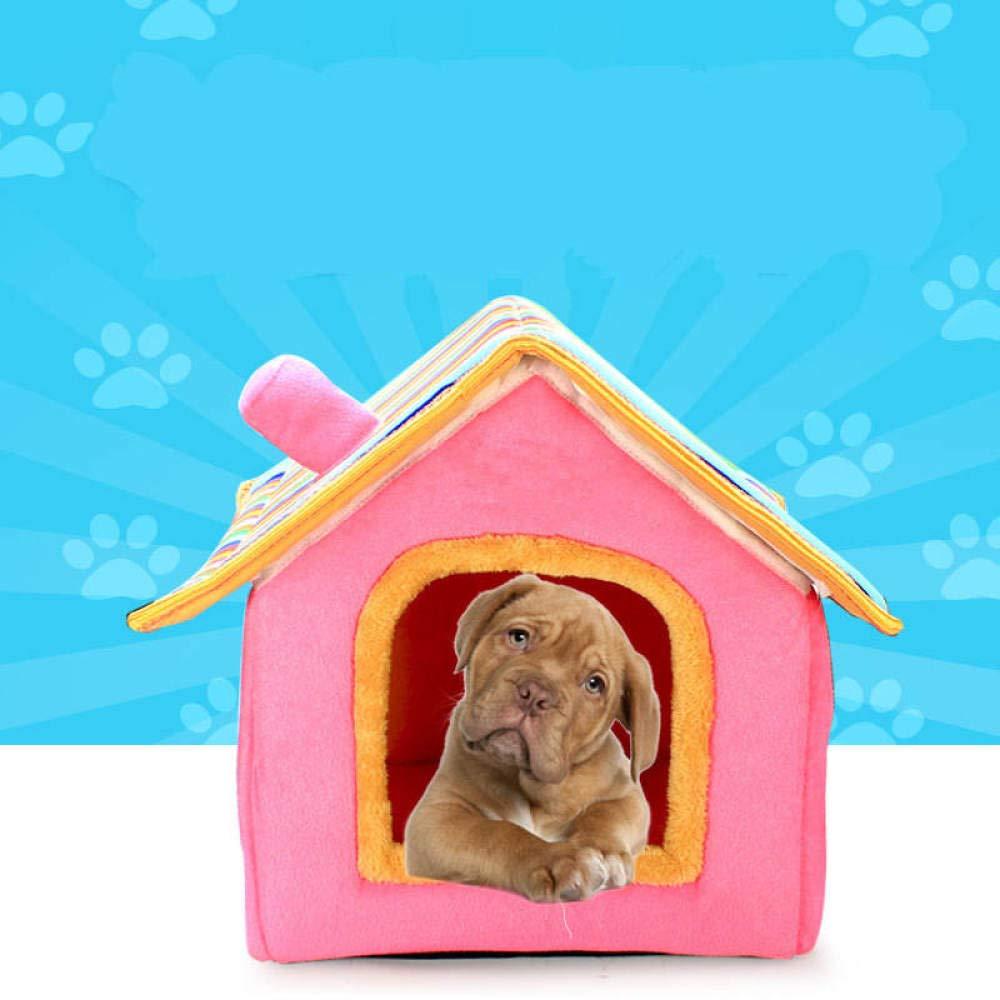 yhwygg Cuccia Pieghevole per Cani di Piccola e Media Taglia Colore: Blu con Motivo a Righe