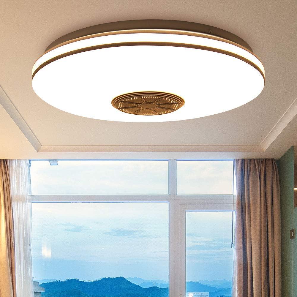 iluminaci/ón con altavoz Bluetooth y control remoto L/ámpara de techo colgante RGBW con cambio de color y regulable para dormitorio de ni/ños Sala de estar PopHMN Luces de techo de m/úsica para sal/ón