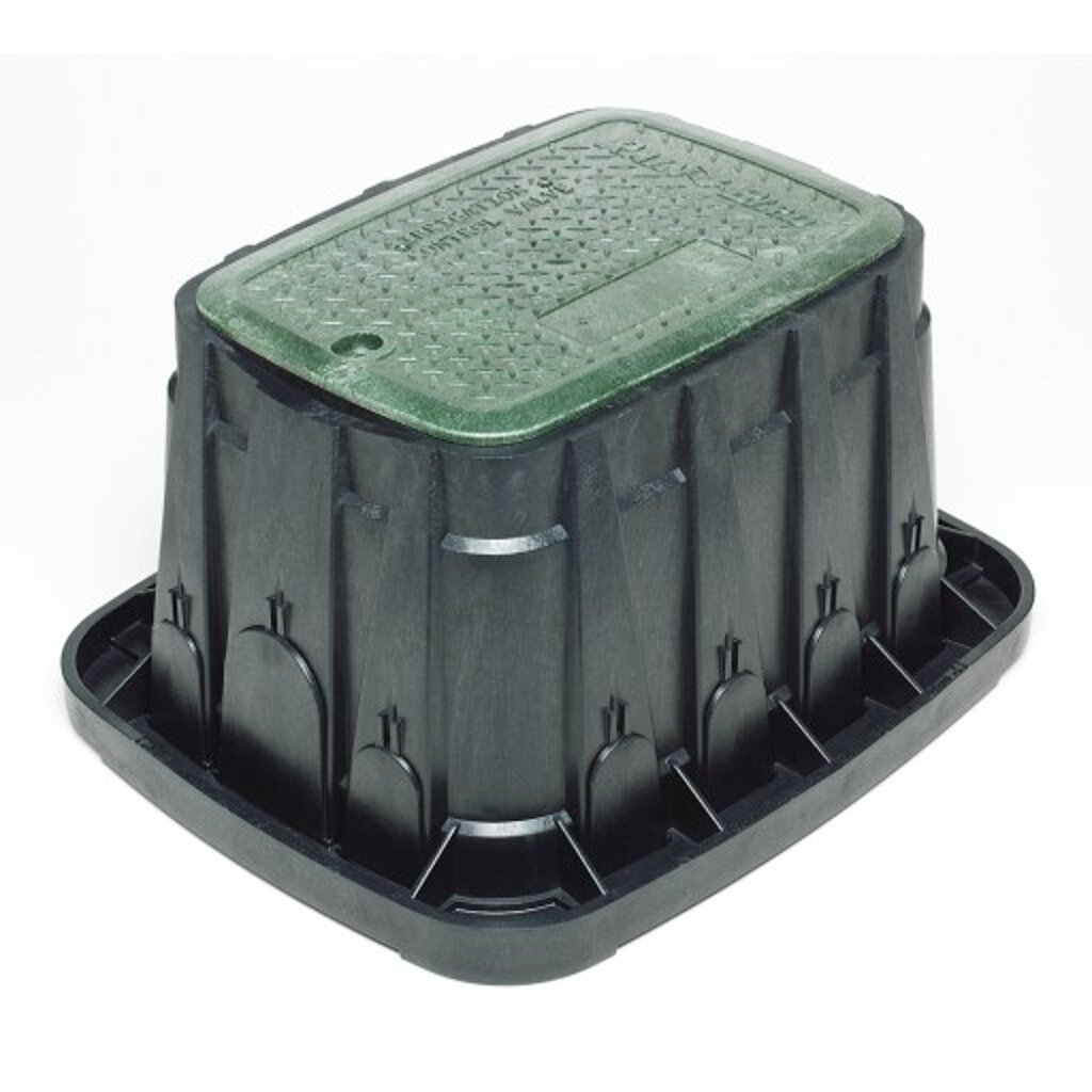 Rainbird Valve Box with Rectangular Body and Lid, Green