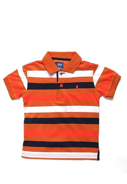 Yale Playera Naranja tipo Polo Playera para Niños Naranja Talla 12 años c9bca5d544089