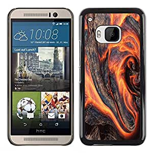 Slim Design Hard PC/Aluminum Shell Case Cover for HTC One M9 Flaming Wood / JUSTGO PHONE PROTECTOR