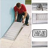 Lichtschacht rejilla protectora con marco de aluminio 60x 115cm, ajustable.