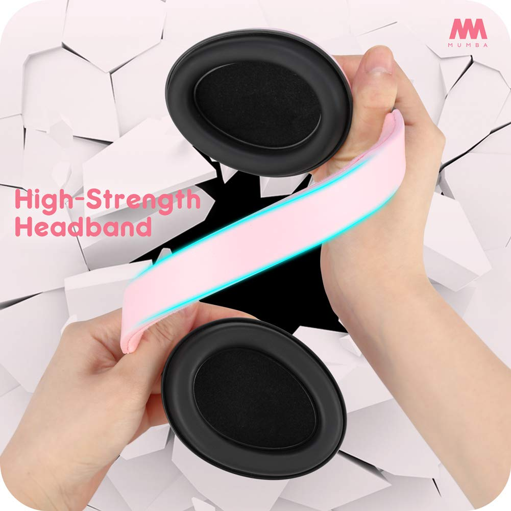 Baby Ear Protection Noise Cancelling Headphones for Babies and Toddlers - Mumba Baby Earmuffs - Ages 3-24+ Months - for Sleeping, Studying, Airplane, Concerts, Movie, Theater, Fireworks by Mumba (Image #7)