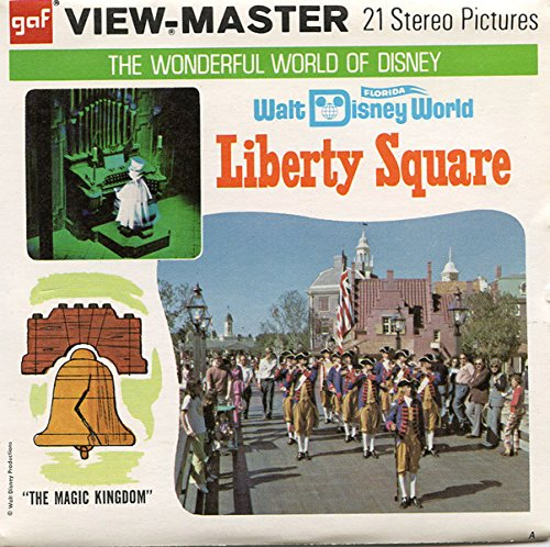 Disney World - LIBERTY SQUARE - Classic ViewMaster - 21 3D Classic Images - 3 Reels - Buena Lake Florida Vista World Disney
