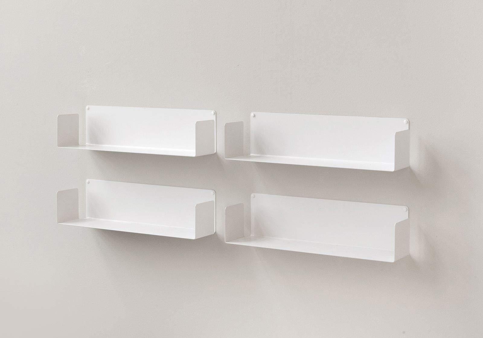te ebooks shelf for books u stainless steel white 60 x 15 x 15 cm