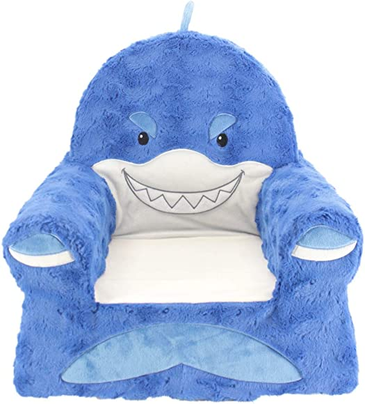 Sweet Seats Sturdy Soft Cozy and Adorable Plush Shark Chair