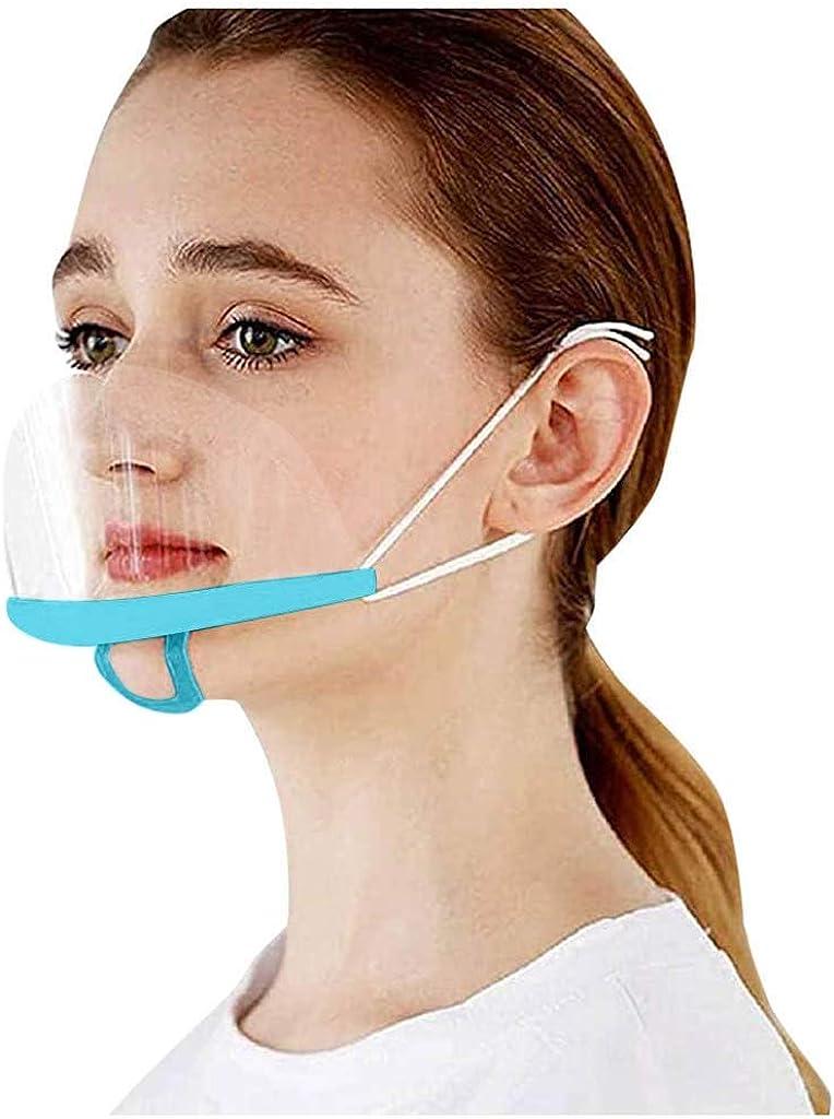 10 St/ück Gesichtsschutzschild Kunststoff Visier Gesichtsschutz Anti-Fog Anti-/Öl Splash Transparent Schutzvisier Spezielle Anti-Saliva Sesichtsschutzschirm