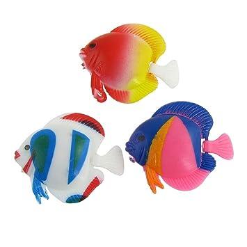 3 pieza Artificial móviles trasero peces de plástico para Acuario: Amazon.es: Productos para mascotas