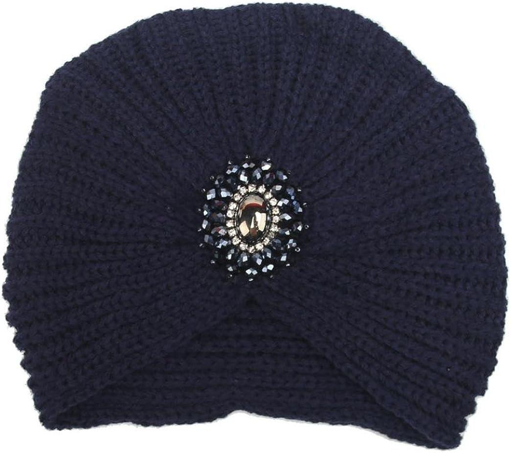 RETUROM Gorro de invierno, Nuevo estilo de invierno de las mujeres caliente Knit Crochet Ski Hat trenzado Turban Headdress Cap