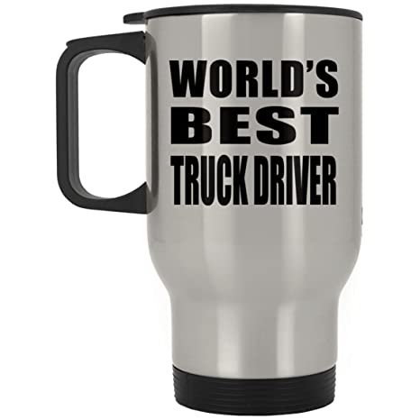 worlds best truck driver travel mug stainless steel insulated lid tumbler best funny