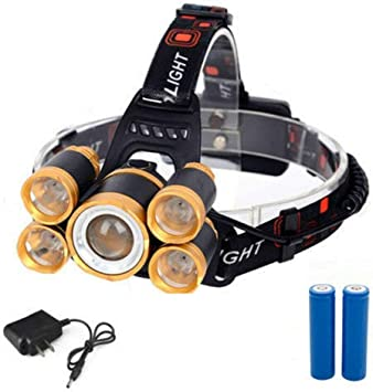 Charger+2x18650 √ Flashlight 50000LM Zoomable T6 LED Headlight Headlamp Torch