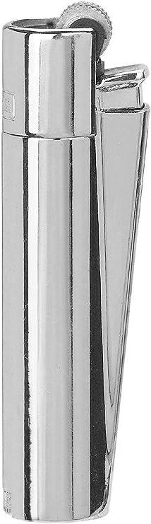 Image ofClipper 1 Encendedor Mechero Clásico Largo Metal Silver Plateado Brillante Pulido + 1 Llavero
