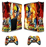xbox skins naruto ultimate ninja storm 3 decal cover for xbox 360 slim console