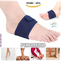 4PCS of Arch Support by PEDIMEND - Plantar Fasciitis Orthopedic Insoles - Arch Heel Aid Feet Cushion - Reduce Inflammation/Spurs/Fallen Arches - Reduces Cramp and Stiffness – Unisex – Foot Care