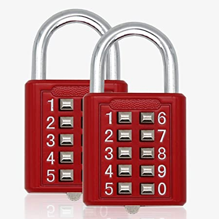 bouton-poussoir à 4 chiffres combinaison cadenas argent numéro code bagage ITHAS