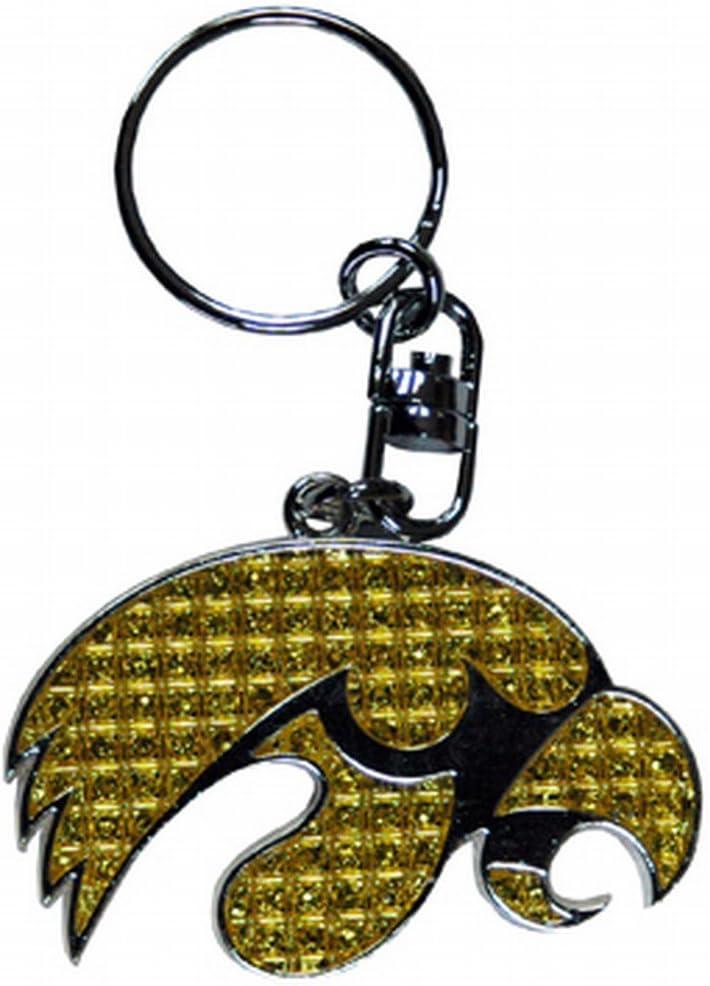 NCAA Iowa Hawkeyes Shanghi Diamond Keychain
