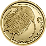 Evolution of Life Series TRILOBITE 24K GOLD PROOF COIN in Capsule with Certificate of Authenticity - 1/2 Gram 11mm 1000 Togrog - 2016 Mongolia
