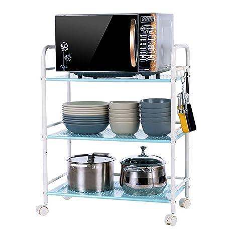 Amazon.com: HLWAWA Carrito de 3 niveles para cocina ...