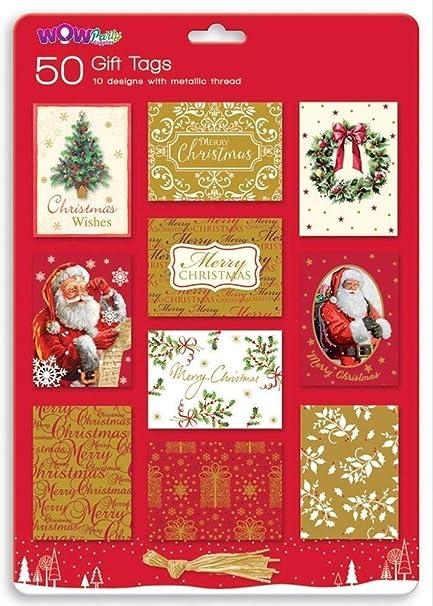 Cadeau de Noël étiquettes d/'adresse Pack 50