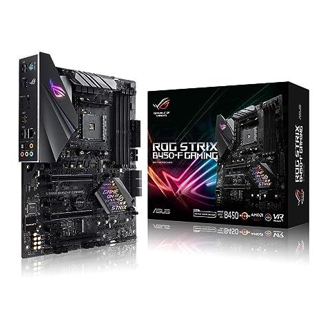 ASUS ROG Strix B450-F Gaming Motherboard (ATX) AMD Ryzen 2 AM4 DDR4 DP HDMI  M 2 USB 3 1 Gen2 B450
