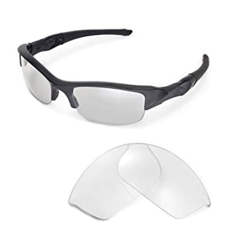 f0f2cb5225e Walleva Clear Non Polarized Replacement Lenses for Oakley Flak Jacket